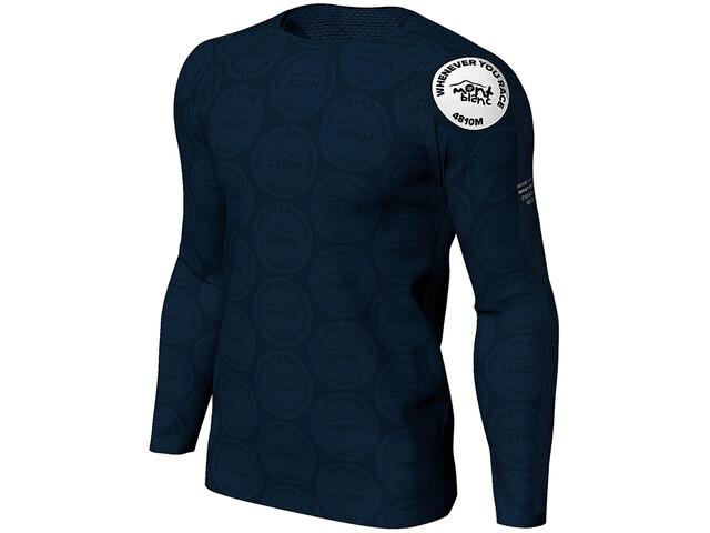 Compressport Training T-shirt manches longues Mont Blanc 2020 Homme, blue